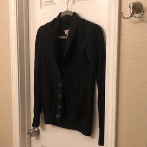 Black warm cardigan